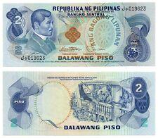 PHILIPPINES 2 Pesos P159b Marcos-Laya Replacement Star Note J Black Serial # UNC