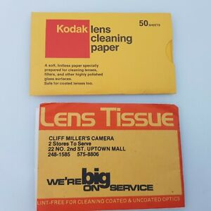 Vintage Kodak Camera Lens Cleaner Wipes 50+ Cleaning Paper Smartphone Tissue