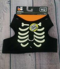 Simply Wag Halloween Glow In The Dark Skeleton Dog Harness Small Size