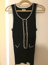 Pre-Owned Chanel Silk Blend Sleeveless Sweater Top