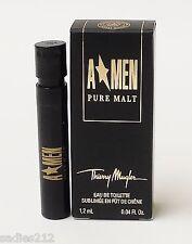THIERRY MUGLER A MEN PURE MALT EDT .04oz 1.2ml COLOGNE SPRAY SAMPLE VIAL X 1