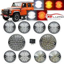 Clear Complete LED Light Kit Front&Rear Lamps For Land Rover Defender 1990-2016