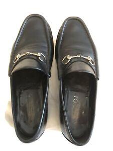 Gucci Horsebit Black Leather Loafers Size 10.5 E Width (gucci Size 11)
