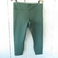 New Fabletics Powerhold Leggings XL X Large Green High Waisted Crop