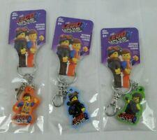 NEW LOT OF 3 THE LEGO MOVIE 2 PROMO KEYCHAIN KEYCHAINS EMMETT NIP
