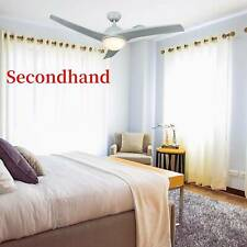 SecondHand Contemporary Ceiling Fan with LED Panel Light & Remote Control White