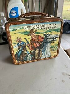 Vintage Gunsmoke Metal Lunch box with Matt Dillon - no Thermos