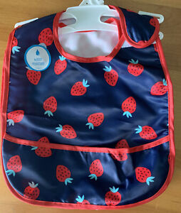 Carter's 2 Pack Strawberries & Red Gingham Water Resistant Bibs One Size (MCL)