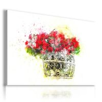 PAINTING DRAWING FLOWERS RED ROSES PRINT Canvas Wall Art R107 MATAGA