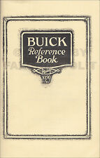 1929 Buick Reference Book Owners Manual Instruction User Guide Book 116 121 129