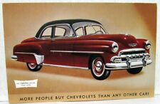 1952 Chevrolet Styleline Deluxe Sport Coupe Original Color Post Card