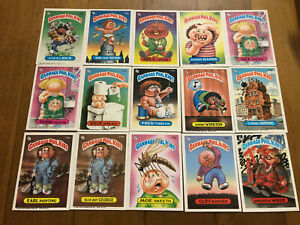 Lot of 15 Garbage Pail Kids Cards Original Series 1980's NM-M Garbage Gang (2)