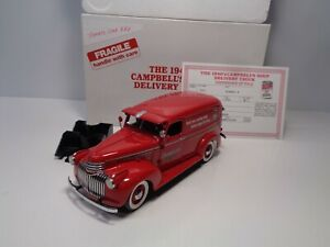 DANBURY MINT 1941 CHEVROLET 1940's CAMPBELL'S SOUP DELIVERY TRUCK W/TITLE BNIB