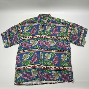 Montage Tropics Hawaiian Shirt Mens Size Large Button Up Multicolor