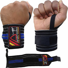 AUSTODEX WRIST SUPPORT BODYBUILDING WEIGHT LIFTING GYM TRAINING BAR STRAPS WRAPS