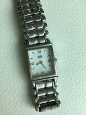 Ladies Cross Sapphire Crystal Swiss Elegant Stainless Steel Watch Excellent