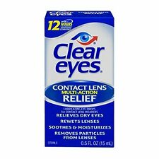 6 Pack - Clear Eyes Contact Lens Multi-Action Relief 0.5oz Each
