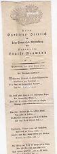 Liedtext zur Hochzeit Schweidnitz 1810 Syndicus Heinrich & Louise Reymann