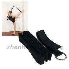 Yoga Stretch Strap Exercise Strap For Physical Yoga Dance Fitness Workout Black