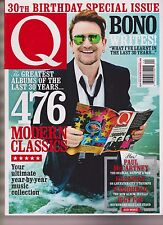 Q MAGAZINE UK 30th BIRTHDAY SPECIAL ISSUE 2016, BONO, U2, PAUL McCartney.