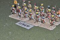 25mm biblical / sea peoples - warriors 21 figures - inf (11404)