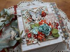Handmade Mini Scrapbook Album Premade ocbrandy ooak photo journal paper bag