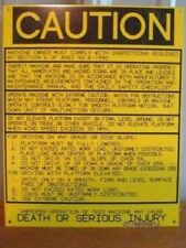 "Genie ""CAUTION"" NAMEPLATE decal label #3252061 (S-97)"
