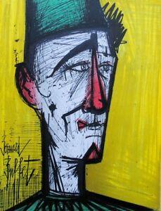 BUFFET Bernard : Jojo le clown - LITHOGRAPHIE originale signée, MOURLOT, 1967