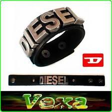 Nuevo De lujo Genuino Cuero Pulsera Negro Diesel Brazalete Pulsera Hombres Surf BD25