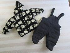 London Fog Designer Baby 2 Piece Sheep Coat/Pants Winter Snowsuit 3-6 Mos NWT