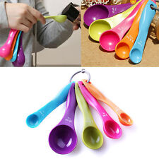 Measuring Spoon Plastic Teaspoon Scoop Tablespoon Utensil Kitchen Tool 5 Pcs/set