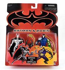 BATMAN : BATMAN & BANE ACTION FIGURE SET. BRAIN VS BRAWN. MADE BY KENNER IN 1997