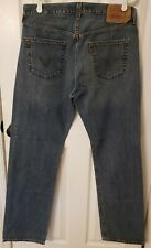 Levi's 501XX Medium Wash Button Fly Straight Leg Men's Jeans Size 36 x 34
