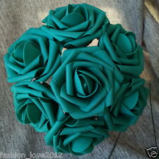 100 Teal Rose Fake Flowers Turquoise Flowers For Wedding Centerpieces Decoration