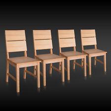 4x Stuhl SERGENT-G Kernbuche Buche Massivholz Stühle Küchenstuhl Wohnzimmersthul