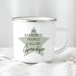 Personalised Favourite Tin Camping Mug/Cup Tea Coffee Gift Any Name Xmas Present