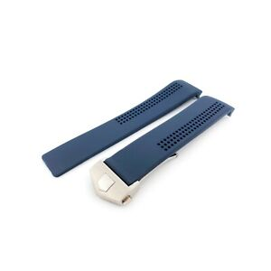 Rubber Silicone Strap/Band fir Tag Heuer Carrera Watch Navy 22mm Clasp