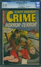 Fight Against Crime 20 CGC 5.0 - OW/W Pages - Classic Decapitation Cover