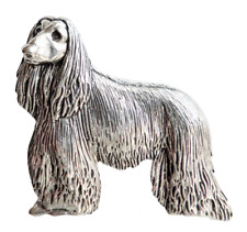 Afghan Hound Dog Pewter Pin Badge - Hand Made in Cornwall