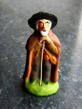 Santon en terre cuite peint Carbonel - Berger vieux puce