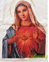 """New Completed finished cross stitch""""HEART OF MARY""""home decor gifts"""