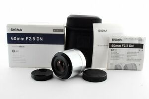 Sigma DN 60mm f/2.8 Art Silver for Micro Four Thirds [Exc w/Box,Case [928]