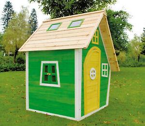 Kinderspielhaus Franzi Holzhaus Garten Haus bunt Fichte 125 x 130 x 158 cm
