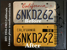 1956-1962 DIY CALIFORNIA License Plates transformation kit