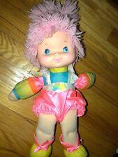 """Vintage Rainbow Brite Baby Brite Doll Bright 1983 15"""" Tickled Pink Hallmark"""
