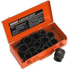 "Sealey Steel Impact Socket Set 13 Piece- 3/4""Square Drive Metric/Imperial- AK686"