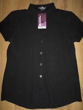 MOUNTAIN WAREHOUSE VACATION BLACK SHIRT WITH STRETCH SIZE 18 BNWT RRP £40