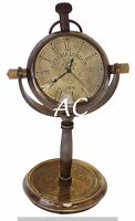 Marine Antique Table Clock Brass Vintage Nautical Table Watch Antique Item Decor