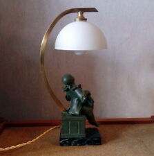 """lampe statuette veilleuse art deco regule """" pierrot de la lune"""""""
