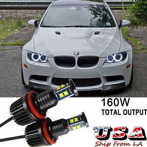160W H8 LED CREE Angel Eyes Halo Ring Bulbs For BMW E90 E92 E93 E60 E61 X5 X6 Z4